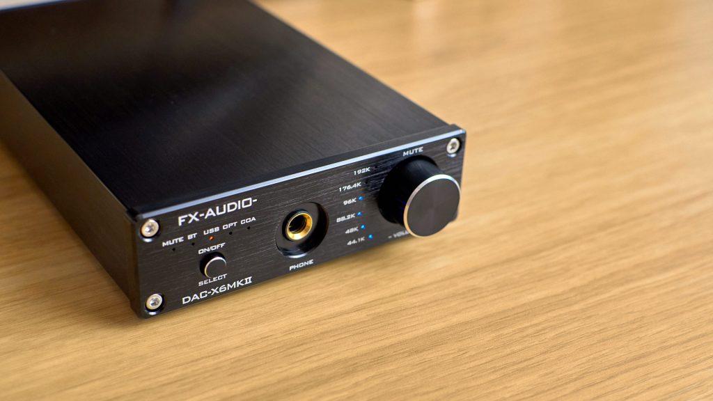 FX Audio X6 MKII front panel