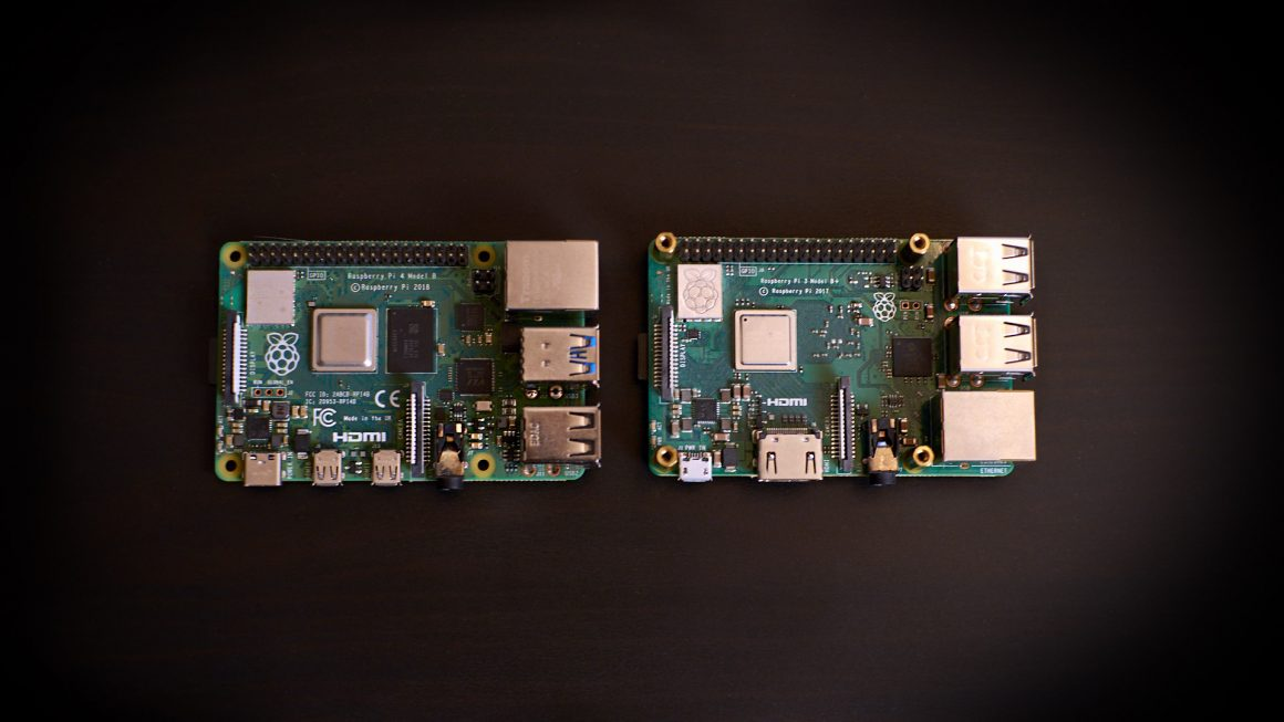 Raspberry Pi 4 vs 3B+ top